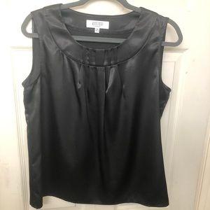 Kasper black dressy sleeveless blouse